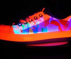 Chameleon sneakers that change color according to the light