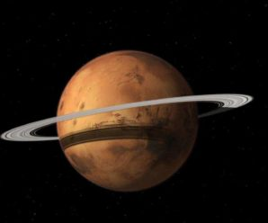 Mars would be periodically surrounded by rings for billions of years