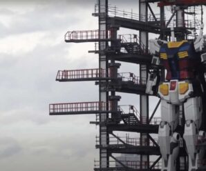 Watch Gundam, the world's largest robot, take its first steps
